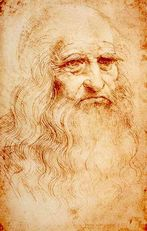 Leonardo da Vinci, self-portait, circa 1512 - 1515